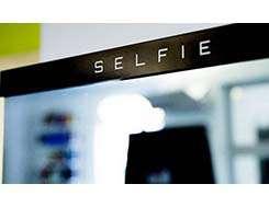 Fotografia selfie impressa no evento